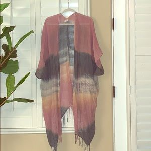 Free People Knit Open Poncho